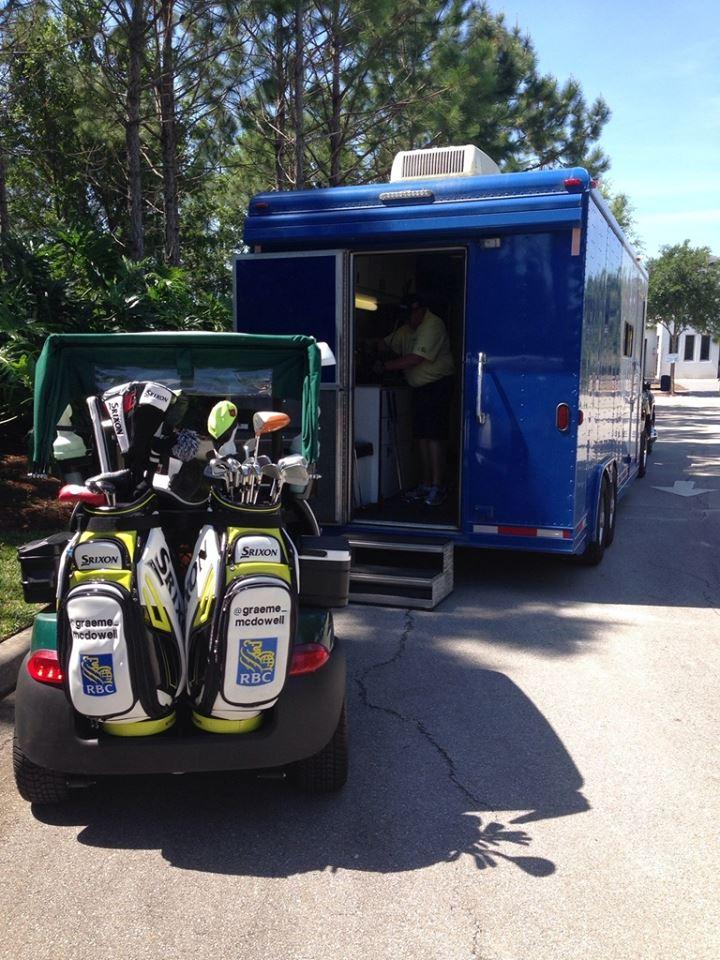 G Mac's 2014 Augusta National golf bags.  (Photo - Graeme McDowell)