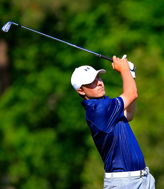 Jordan Spieth recall the buzz in playing a first practice round ahead of his first Major Championship appearance.