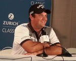 Patrick Reed ready to do a runner if his wife goes into labour.