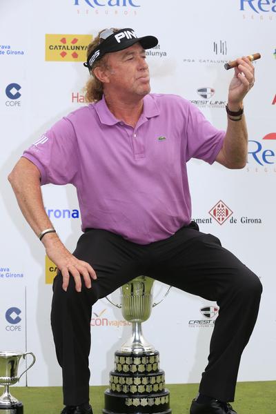 Eoin Clarke's super shot of Spain's Miguel Angel Jimenez enjoying his first Spanish Open success.  (Photo - Eoin Clarke/www.golffile.ie)