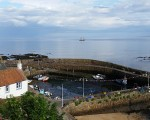 The Georg Stage moored off Crail Harbour.
