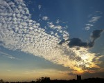 Stunning cloud formation and sunset over Dusseldorf