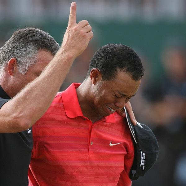Tiger Woods and his emotional victory in the 2006 Open at Hoylake.