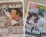 Back page lead stories in the UK Daily Mail and Daily Mirror