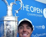The first-ever 'selfie' snap of a new Open Champion thanks to Rory McIlroy.  (Photo - www.opengolf.com)