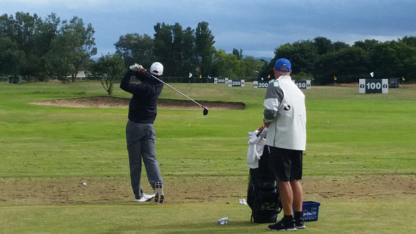 tiger woods warms up for open in liverpool fire station