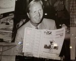 Jack Nicklaus features prominently on a tribute wall at Yonkers Raceway in New York