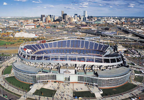 The Mile High Stadium in Denver and where Rory McIlroy will be on the Sunday night at the conclusion of next fortnight's BMW Championship.