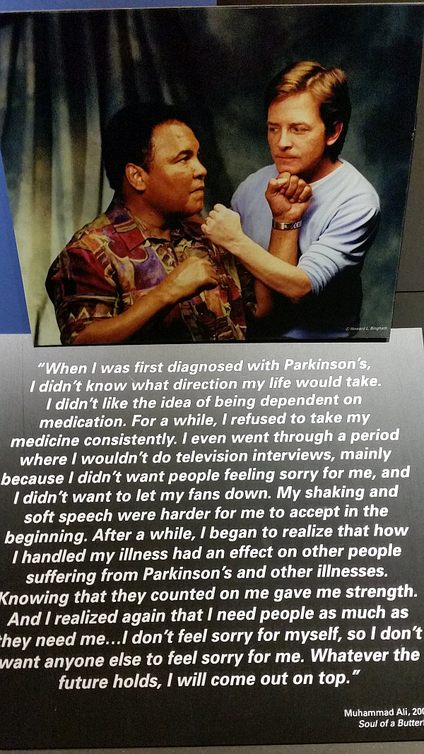 muhammad ali and michael j fox dealing with parkinson u2019s disease