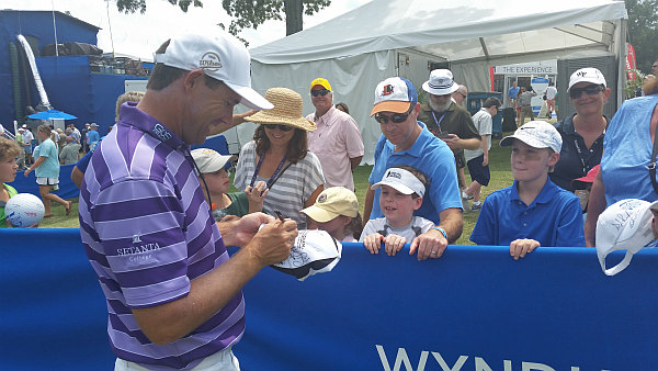 Padraig Harrington happy to sign autographs  but now finds himself in unfamiliar territory after losing his PGA Tour card.  (Photo - www.golfbytourmiss.com)