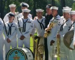 Phil Mickelson joins the band - The Navy Band.