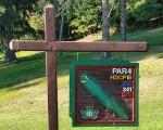 Rockland Lake - 10th hole marker