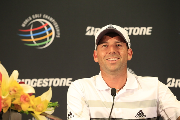 Sergio GARCIA takes the lead with a score of -11 with a round of 9 pars and 9 birdies to equal the course record of 61 during Friday's Round 2 of the WGC Bridgestone Invitational, held at the Firestone Country Club, Akron, Ohio.: Picture Eoin Clarke, www.golffile.ie: 1st August 2014