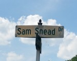 Sam Snead Drive leading to Starmount Forest Country Club where 'Slammin' Sam' won in 1938 the first of eight Greater Greensboro Open titles.  (Photo - www.golfbytourmiss.com)