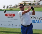 Moroccan Amine Joudar just one shot from the on day one of the MENA Tour's Dubai Creek Open.
