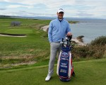 Marc Warren recently spotted playing the Balcomie Course at  the Crail Golfing Society.   (Photo - www.golfbytourmiss.com)