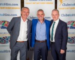 ClubstoHire Brand Ambassador Paul McGinley with principal investor Gerry McKiernan (left) and CEO Tony Judge (right).