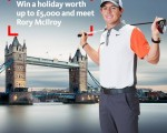 Rory McIlroy promotion on River Thames - Sept 2014