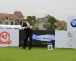 Stephen Gallacher tees off in the Pro-Am ahead of this week's BMW Masters.  (Photo - Eoin Clarke/www.golffile.ie)