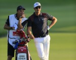 Henrik Stenson and his 'Lordship' Gareth Lord during the third round of the DP Tour World Championship.  (Photo - Fran Caffrey/www.golffile.ie)
