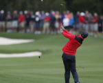 Rory McIlroy on route to a two under par 69 on day one of the Emirates Australian Open.