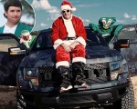 Bubba Watson promoting a new single - Bubba Claus.