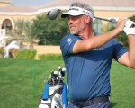Darren Clarke practicing ahead of inaugural 2014 Dubai Open.  (Photo thanks to golfindubai.