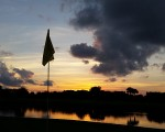 President GC, West Palm Beach, Florida - Sun Setting over 16th Flagstick. (Photo - www.golfbytourmiss.com)