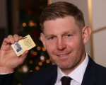 Stephen Gallacher with his 2015 PGA Tour 'Affiliate Membership card. (Photo with kind thanks - The Scotsman)