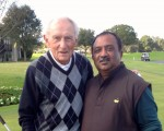 One legend meets another legend - 1958 PGA Champion and 1977 USA Ryder Cup captain Dow Fistenwald meets 'Swamy'.