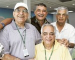 Ashok Bakshi (standing with white cap) collapsed and died of a heart attack.