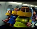 Fly Dubai in-flight video characters