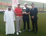 Henrik Stenson and Stephen Gallacher win the 2015 Dubai Desert Classic Challenge.  (Photo - www.golfbytourmiss.com)