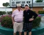 Bernie meets with Tom Feeney at Lone Pine Golf Club.