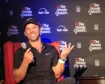 Paul Casey in a feel good mood and with nine holes to play in the Honda Classic.  (Photo - Fran Caffrey/www.golffile.ie)