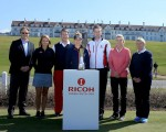 2015 Ricoh Women's British Open stars gather for a photo call ahead in front of the stunning Trump Turnberry.
