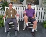 Bothy and Bernie 'rocking' at last week's Wells Fargo Championship.