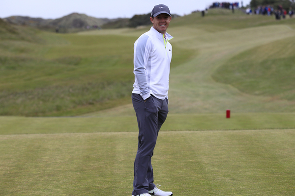 """""""Where is my pro-am patners?""""  Rory McIlroy standing around with his hands in his pocket wondering where are  his three Pro-Am partners.  (Photo - Eoin Clarke/www.golffile.ie)"""