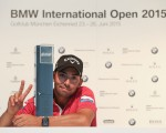 Pablo Larrazabal gives the sign for two BMW International Open wins  (Photo - David Lloyd/www.golffile.ie)