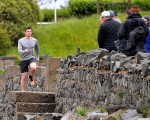 Rory McIroy pounding the pavement around the shores of Belfast.