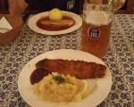 Last night in Munich?  What else but Werner Snitznel and another Weiss Beer.