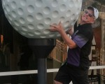 .. and before you say anything, I was not trying to pinch the golf ball.