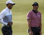 Jason Day and Tiger Woods clearly have fun during this year's Open Championship.