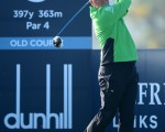 Sweden's Peter Hanson very impressed with rookie professional Jimmy Mullen. (Photo - www.golffile.ie)
