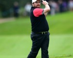 Shane Lowry of Ireland hits an approach during Round 1of the 2015 British Masters at the Marquess Course, Woburn, in Bedfordshire, England on 8/10/15. Picture: Richard Martin-Roberts | Golffile