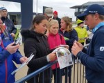 Paul Dunne signing autographs after ending his first event as a pro T19th in the Alfred Dunhill Links Championship.  (Photo - www.golfbytourmiss.com)