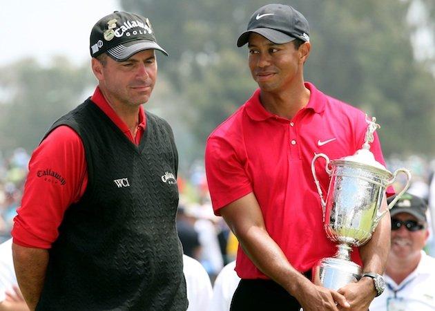 Tiger Woods last taste of victory in a Major - winning the 2008 US Open.