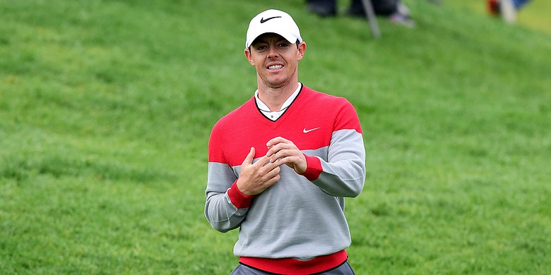 Rory McIlroy pretty happy with himself shooting a 67 in his first competitive round at Riviera.