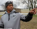 Tiger Woods casts his design eye over the site for a new Tiger Woods 18-hole golf course at Thompson's Station south of Nashville.