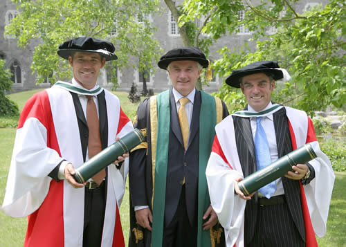 In July 2006 and in the same year as the Ryder Cup, NUI Maynooth conferred honorary doctorates on golfers Padraig Harrington & Paul McGinley for their contributions to golf